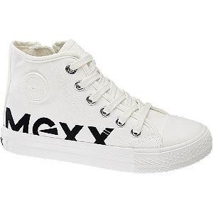 Levně Bílé kotníkové plátěné tenisky Mexx