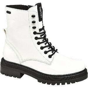 Levně Bílá šněrovací obuv se zipem Esprit