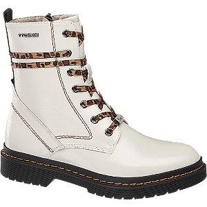Levně Bílá šněrovací obuv se zipem Tom Tailor