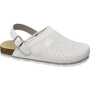 Levně Bílé pantofle Björndal