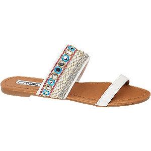 Levně Bílé pantofle Claudia Ghizzani