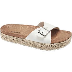 Levně Bílé pantofle Graceland