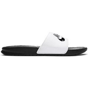 Levně Bílé pantofle Nike Benassi
