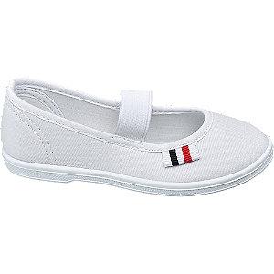 Levně Bílá plátěná domácí obuv Vty