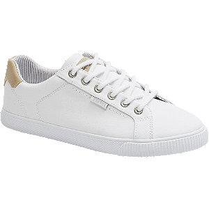 Levně Bílé plátěné tenisky Esprit