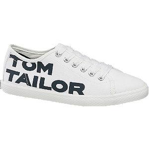 Levně Bílé plátěné tenisky Tom Tailor