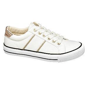 Levně Bílé plátěnné tenisky Vty