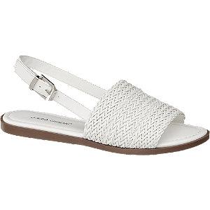 Levně Bílé sandály Claudia Ghizzani