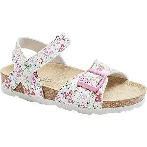 Levně Bílé sandály Cupcake Couture s květinovým vzorem