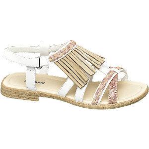 Levně Bílé sandály Graceland s třásněmi