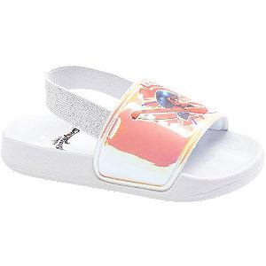 Levně Bílé sandály Kouzelná beruška a Černý kocour