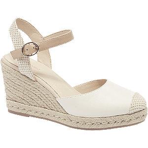 Levně Bílé sandály na klínku Graceland