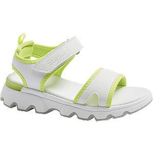 Levně Bílé sandály na suchý zip Esprit