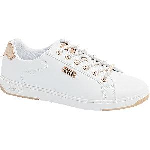 Levně Bílé tenisky Esprit se zlatými detaily