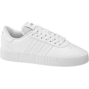 Levně Bílé tenisky na platformě Adidas Court Bold
