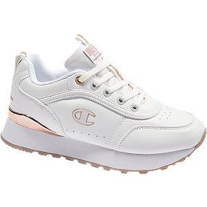 Levně Bílé tenisky na platformě Champion