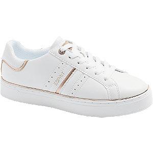 Levně Bílé tenisky na platformě Esprit