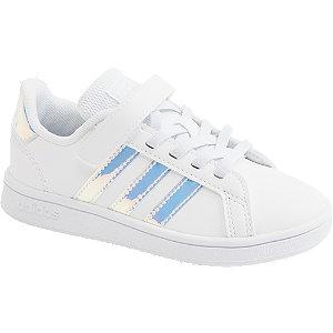 Levně Bílé tenisky na suchý zip Adidas Grant Court