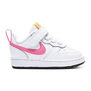 Levně Bílé tenisky na suchý zip Nike Court Borough Low 2