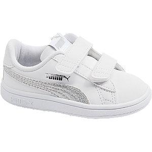 Levně Bílé tenisky na suchý zip Puma