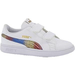 Levně Bílé tenisky na suchý zip Puma Smash V2 Olympic