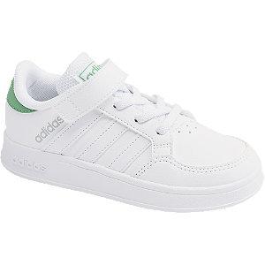 Levně Bílé tenisky na suchý zip adidas Breaknet C