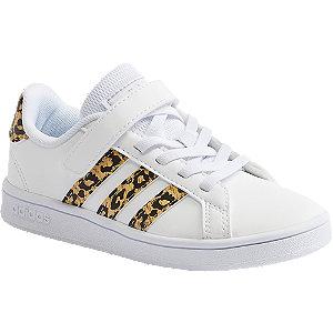 Levně Bílé tenisky na suchý zip adidas Grand Court C