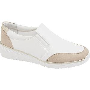 Levně Bílo-béžová komfortní slip-on obuv Easy Street