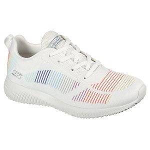 Levně Bílo-duhové tenisky Skechers