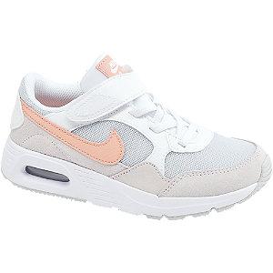 Levně Bílo-šedé dětské tenisky na suchý zip Nike Air Max SC