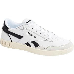 Levně Bílo-černé kožené tenisky Reebok Royal Techque T