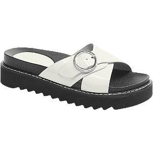 Levně Bílo-černé pantofle Catwalk