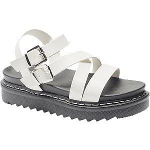 Levně Bílo-černé sandály Catwalk