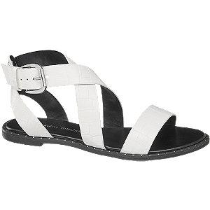Levně Bílo-černé sandály se zvířecím vzorem Claudia Ghizzani