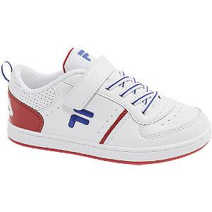 Levně Bílo-červené tenisky na suchý zip Fila