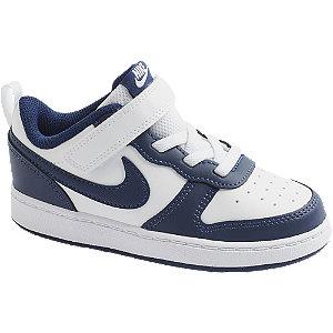 Levně Bílo-modré dětské tenisky na suchý zip Nike Court Borough Low 2