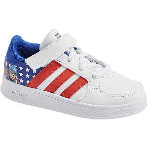 Levně Bílo-modré tenisky Adidas Breaknet C