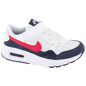 Levně Bílo-modré tenisky na suchý zip Nike Air Max Sc