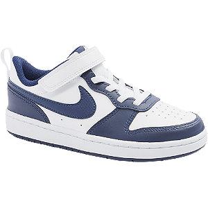 Levně Bílo-modré tenisky na suchý zip Nike Court Borough Low
