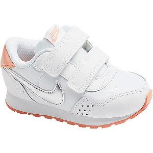 Levně Bílo-oranžové dětské tenisky na suchý zip Nike MD Vaillant