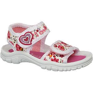 Levně Bílo-růžové dětské sandálky Cupcake Couture