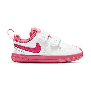 Levně Bílo-růžové dětské tenisky na suchý zip Nike Pico