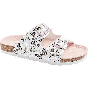 Levně Bílo-růžové pantofle Graceland