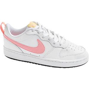 Levně Bílo-růžové tenisky Nike Court Borough Low