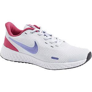 Levně Bílo-růžové tenisky Nike Revolution 5