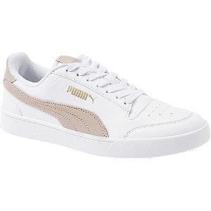 Levně Bílo-růžové tenisky Puma Shuffle SD