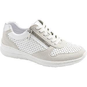 Levně Bílo-stříbrné komfortní tenisky Easy Street