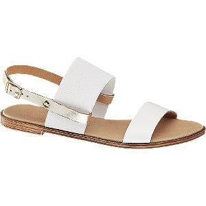 Levně Bílo-zlaté sandály Claudia Ghizzani