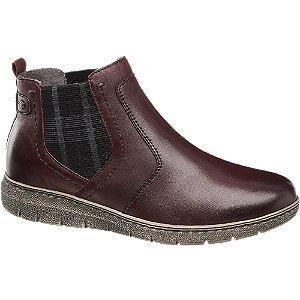 Levně Bordó komfortní kožená obuv Medicus