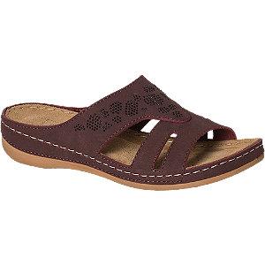 Levně Bordó komfortní pantofle Easy Street